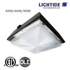 DLC /& UL Listed 100-277V 5000K Gas Station Fuel Pump Canopy 130W LED Canopy