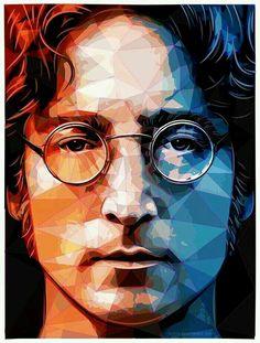 The Beatles - John Lennon Les Beatles, Beatles Art, Rock And Roll, Rock Poster, Ringo Starr, Poster Prints, Art Prints, Rock Music, Rock Art