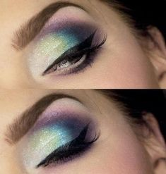 those are great eyebrows... eyeshadow is cute