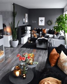 51 Affordable Apartment Living Room Design Ideas On A Budget GentileForda. Living Room Decor Cozy, Living Room Grey, Home Living Room, Apartment Living, Living Room Designs, Black White And Grey Living Room, Budget Living Rooms, Monochromatic Living Room, Living Room Decor Orange
