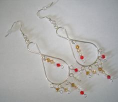 Sale Beaded chandelier earrings by CreationsbyAAJ on Etsy, $7.00