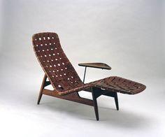 Arne Vodder for Bovirke; chaise longue, teak and leather, Denmark, Furniture Decor, Furniture Design, Scandinavian Chairs, Danish Modern Furniture, Leather Furniture, Eclectic Decor, Mid Century Furniture, Mid-century Modern, Interior Design
