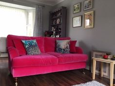 Just look how dreamy this pink velvet Alwinton sofa is! Can you picture it in your home?  Visit your nearest showroom to discover our British handmade Alwinton sofa now with 15% off and order by 27th September for Christmas delivery.  Featuring the Alwinton 3 seater sofa in Designers Guild Varese Fuchsia styled by our customer Andrea.  #sofasandstuff #interior #interiors #interiordesign #interiordesigns #interiordesigner #sofa #sofas #pinksofa #velvetsofa #pinkvelvet #pinkinterior #pinkhome Sofa Uk, Couch, Traditional Sofa, Pink Sofa, Sofa Sale, Christmas Delivery, Velvet Sofa, Designers Guild, 3 Seater Sofa