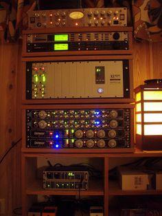 Interestingly simple/inexpensive - Studio Racks in Home Recording Studio | Flickr - Photo Sharing!