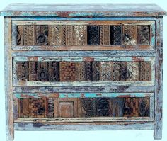 More PRINT BLOCK PATTERNS  Indian Furniture Place -RECLAIMED WOOD-01