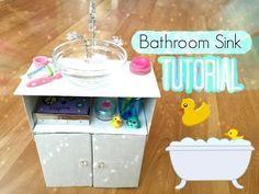 How To Make An American Girl Doll Bathroom Sink! - YouTube