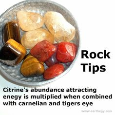 Citrine, carnelian, tiger's eye