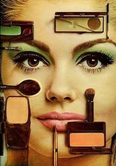 A lot has changed between now and then 1960s Makeup, Vintage Makeup Ads, Retro Makeup, Vintage Ads, Sixties Makeup, Vintage Clothing, Beauty Ad, Beauty Makeup, Beauty Products