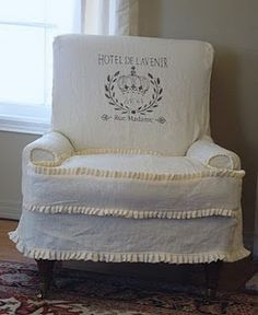 Leather Chair Slipcover Tutorial