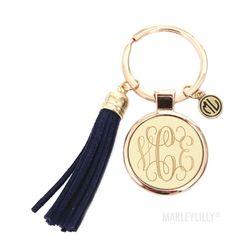 Love my MarleyLilly Monogrammed Tassel Key Chain