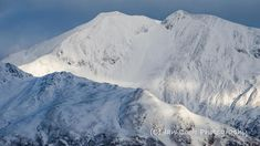The Mamores from the summit of The Pap Glencoe, Scotland.
