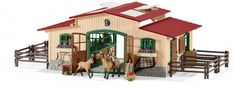 Schleich Stable with horses and accessories SC42195