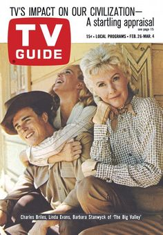 """TV Guide: February 26, 1966 - Charles Briles, Linda Evans, Barbara Stanwyck of """"The Big Valley"""""""