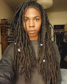See this Instagram photo by @the_almond_aesthetic • long Locs. Locks.