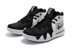 2bbe61911aa9 2018 Off-Blanc x Nike Kyrie 4 Noir Blanc Chaussures Air Jordan