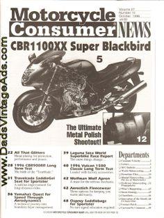 1996 October #Motorcycle Consumer News – #Honda Super Blackbird CBR1100XX