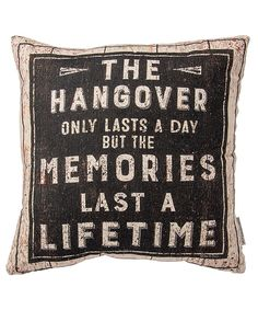 Look at this 'The Hangover' Throw Pillow on #zulily today!