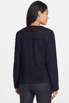 Contrast Yoke Wool Jacket (Petite) by Eileen Fisher on @nordstrom_rack