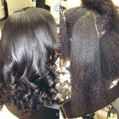Brio blowout on natural hair. Blowouts. Silk press. Silk wrap. Silk blowout. Follow me on instagram @getmanetamed