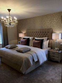 Elegant bedroom design, decoration with simple things Romantic Master Bedroom, Small Master Bedroom, Master Bedroom Design, Home Decor Bedroom, Master Bedrooms, Bedroom Furniture, Bedroom Designs, Warm Bedroom, Bedroom Ideas Master For Couples