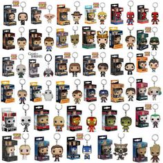 Gift-Funko-Pocket-Pop-Keychain-Groot-Batman-Hearly-Queen-Vinyl-Figure-Keyring