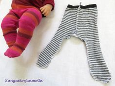 Ompele nuken sukkahousut Doll Clothes Patterns, Clothing Patterns, Types Of Shirts, Shirt Types, Baby Born, Doll Accessories, Leg Warmers, Barbie Dolls, Sweatpants