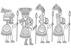 aztec murals coloring pages - photo#3