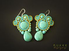 Blue elegant soutache earrings by pUkke on Etsy, €24.00