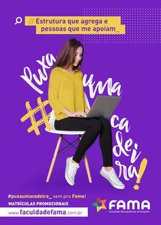 Vestibular 2018 on Behance Ad Design, Flyer Design, Branding Design, Creative Poster Design, Graphic Design Posters, Creative Advertising, Advertising Design, Site Portfolio, Instagram Design