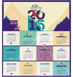 Calendar template vector by nokastudio on VectorStock®