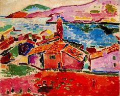 """""""Les Toits de Collioure"""", 1905, by Henri Matisse"""