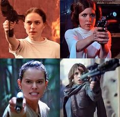 Star Wars Ladies - Or Star Wars moms and daughters. Come on, Jyn Erso will turn out to be Rey's mom. Search your feelings.