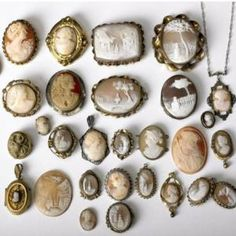 Antique Cameos. I'd love this collection!