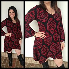 What a perfect day for a sweater dress! Just put on some leggings and this comfy $48 piece and you'll be set!