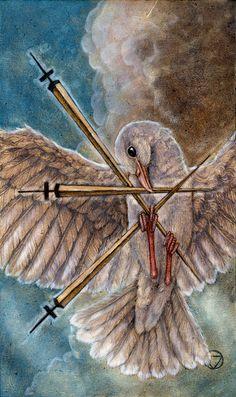 Three of Swords - Mary-El Tarot by  Marie White