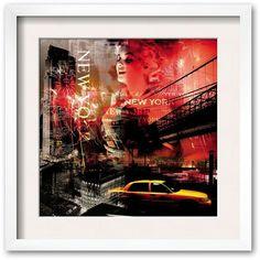 Art.com New York Firewoks Framed Art Print ($101) ❤ liked on Polyvore featuring home, home decor, wall art, multicolor, wood home decor, skyline wall art, new york cityscape wall art, framed wall art and apple home decor