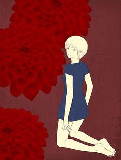 Dahlia #illustration #イラストレーション