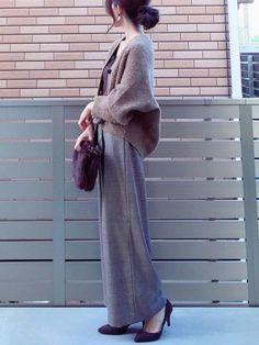 今日も暖かかったので カーディガン羽織るだけでも寒くないのが嬉しい✨✨ アダムエロペさんのアルパカカ