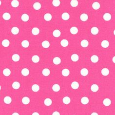 Berenstain Bears White Polka Dots on Pink Fabric 55506-24