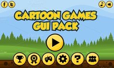 Check out Cartoon Game GUI Pack 1 by pzUH on Creative Market