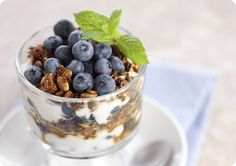 Driscoll's Blueberry Parfait with Gingersnap Granola - Low Fat Berry Recipe