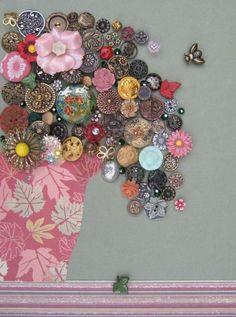 Decorative Flower Buttons Bouquet ♥♥♥