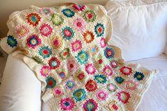 granny squares blanket by chikaustin