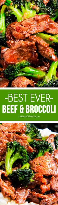 Secret Ingredient, Better Than Takeout! Beef and Broccoli | Tender slices of beef that are SO juicy, SO flavorful as they soak up every savory essence of the marinade and the rich, savory sauce. BEST I'VE EVER HAD via @carlsbadcraving