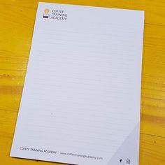 Sono arrivati i nuovi Block notes by @checcux . Gran bel lavoro! Venite a provarli!!!!  #CoffeeTrainingAcademy #Verona #AccademiaDelCaffè #Formazione