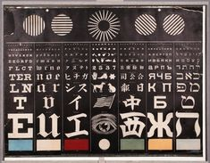 George Mayerle's Eye Test Chart (ca. Eye Test Chart, Eye Chart, Roman Alphabet, Natural Form Art, British Sign Language, Muscular Strength, Color Vision, Media Images