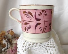 Pink Lustreware from Staffordshire, England