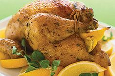 Inspired by Greek island fare, this juicy, showstopping roast chicken features the bright flavours of fresh lemon and oregano. You won't be disappointed by this roast chicken recipe.