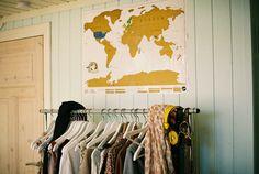 Imagem de vintage, clothes, and map