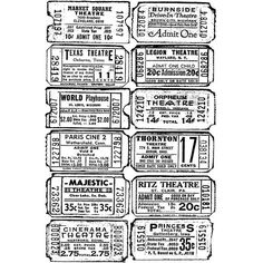 Stampers Anonymous Tim Holtz Cling Rubber Stamp: Ticket  by Stampers Anonymous
